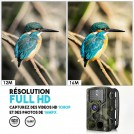 Caméra de Chasse à Détection de Mouvement - 16Mpx - Déclenchement en 0,3 Secondes - Vision de Nocturne Infrarouge