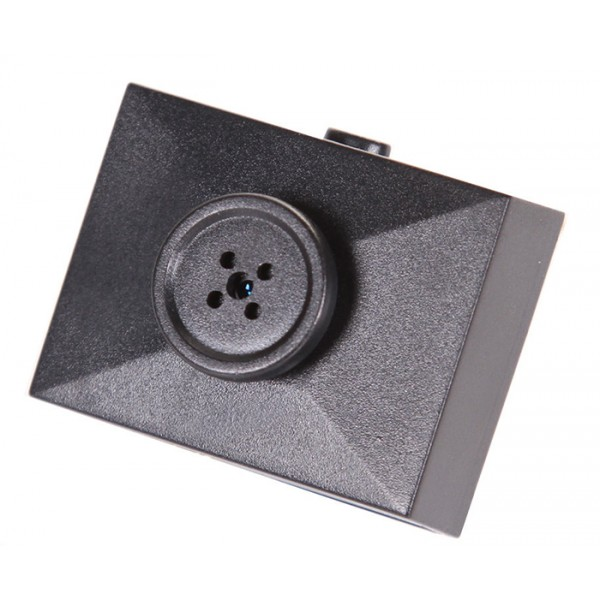 Bouton avec Mini Caméra Espion