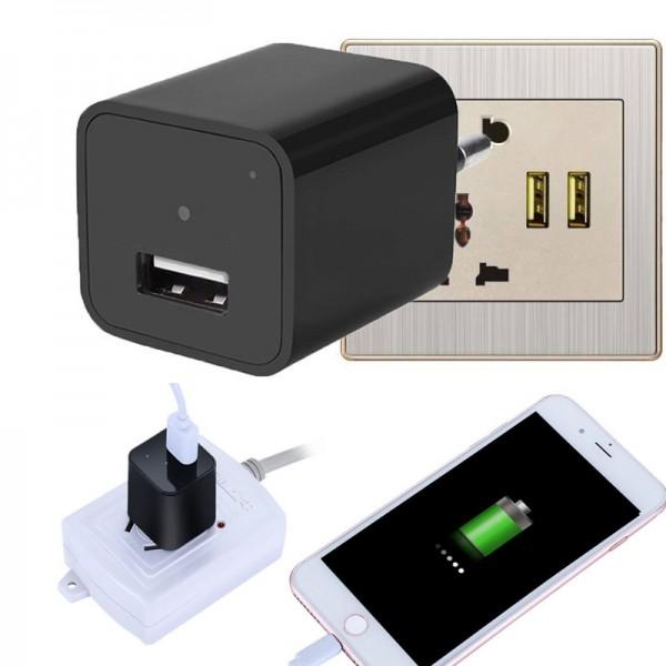 Mini Caméra Chargeur USB - Chargeur Murale avec Détection de Mouvement