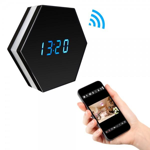 Radio Réveil Espion WIFI avec Caméra HD à Vision Nocturne et Détection de Mouvements