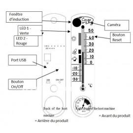 Thermomètre avec Caméra Espion et Détection de Mouvements
