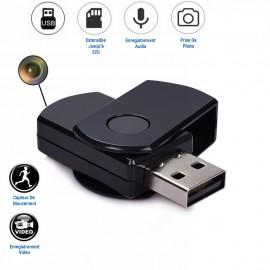 Porte-Clés Clef USB avec Mini Caméra Espion HD