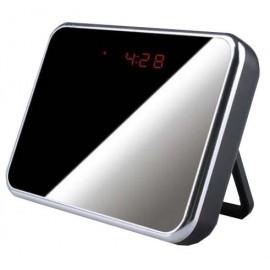 Réveil Miroir Multifonctions avec Caméra Cachée HD