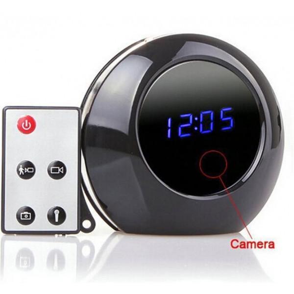 Réveil Caméra Espion avec Détection de Mouvement